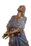 Jerusalem - bronsstatyn av Servus Domini (tjänaren av Herren) eller i kyrka av St Peter i Gallicantu Royaltyfri Foto
