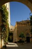 Jerusalem church. Holy churches - Old City, Jerusalem - arc and blue sky Stock Photography