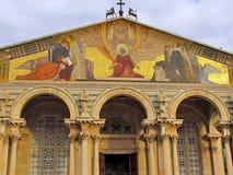 Jerusalem Church of All Nations facade decorations 2012 Stock Photos