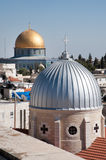 Jerusalem church and Dome of the Rock Royalty Free Stock Photos