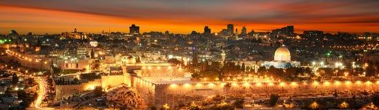 Free Jerusalem City By Sunset Stock Photography - 180196112