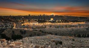 Free Jerusalem City By Sunset Royalty Free Stock Image - 93130476