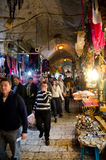 Jerusalem City Market Alley Stock Photography
