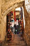 Mahane Yehuda Market in Jerusalem royalty free stock photo