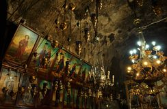Interior of Tomb of the Virgin Mary stock images