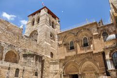 Church of the Holy Sepulchre in Jerusalem royalty free stock photo
