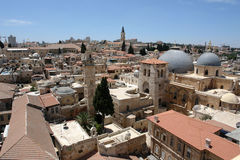 Jerusalem, city of three religions, Royalty Free Stock Image