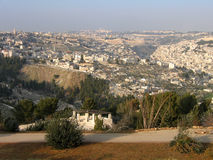 Jerusalem, the city view from the lookout. Stock Photo