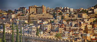 Jerusalem. City walks. Houses in the old town royalty free stock photography