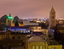 Jerusalem cityscape Arkivfoto