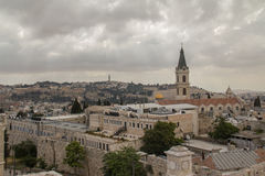 Jerusalem cityscape. A landscape view of the city of Jerusalem Royalty Free Stock Photos