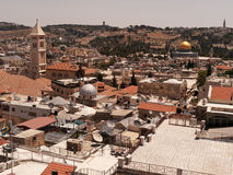Jerusalem cityscape with Omar mosque Royalty Free Stock Photography