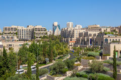 Jerusalem cityscape view. Royalty Free Stock Images