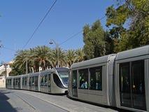 Jerusalem commuter train Royalty Free Stock Photos