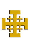Jerusalem cross. Royalty Free Stock Photography