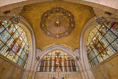 Jerusalem -The cupola of sancutary in Church of Flagellation on Via Dolorosa from begin of 20. cent. by architect Antonio Barluzzi Royalty Free Stock Images
