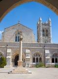 Jerusalem - das Atrium der St- Georgeanglikanerkirche vom Ende von 19 cent Stockbild