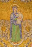 Jerusalem - das Mosaik von Madonna in Dormitions-Abtei Stockfotografie