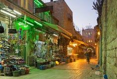 Jerusalem - der Markt in der alten Stadt Stockfoto