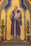 Jerusalem - die Farbe von St Paul der Apostel in der Kirche von Flagelltion an über Dolorosa Stockfotografie