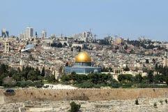 Jerusalem - die heilige Stadt für Moslems, für Christen, für Juden stockfotos