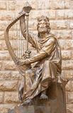 Jerusalem - die Skulptur Königs David eingeweiht dem israelischen befort Skulptur David Palombos (1920 - 1966) das König Davidâ € Lizenzfreie Stockfotos