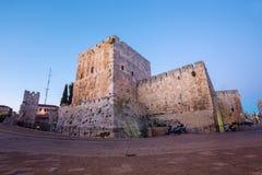 Jerusalem - die Zitadellenwände am Abend Lizenzfreie Stockfotografie