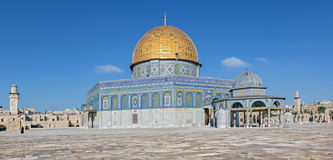 Jerusalem - The Dom of Rock on the Temple Mount Royalty Free Stock Photography
