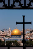 Jerusalem, Dome of the Rock, Cross Royalty Free Stock Photos