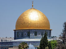 Jerusalem Dome of Rock Mosque May 2010 Royalty Free Stock Photo