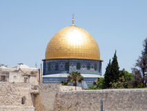 Jerusalem the dome of Rock Mosque 2010 Royalty Free Stock Image