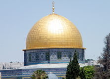 Jerusalem Dome of Rock Mosque 2010 Royalty Free Stock Image