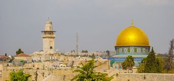 Jerusalem. Dome of the Rock mosque on the Temple Mount in Jerusalem stock photography