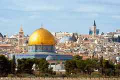 Jerusalem. The Dome of the Rock on the temple mount in Jerusalem - Israel stock photos