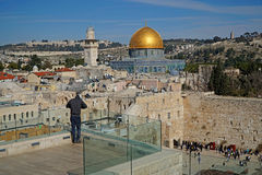 Jerusalem, Dome of the Rock and Western Wall Stock Photos