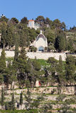 Jerusalem - Dominus Flevit church on the Mount of Olives. Stock Photos
