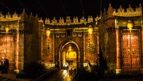 Jerusalem festival av ljus - Damascus port Royaltyfria Foton