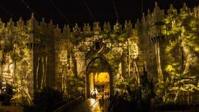 Jerusalem Festival of Light - Damascus Gate Royalty Free Stock Images