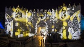 Jerusalem Festival of Light 2018 in the old city Stock Photography