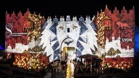Jerusalem-Festival von Licht 2018 in der alten Stadt Lizenzfreie Stockfotos
