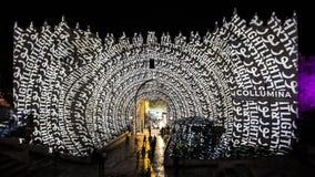 Jerusalem-Festival von Licht 2018 in der alten Stadt Stockfotografie