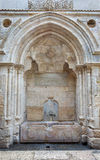Jerusalem - Fountain with Arabic inscription on Hagai (El Wad) street in the Muslim quarter. Stock Photos