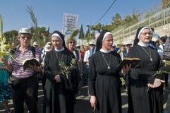 jerusalem gömma i handflatan sunday Arkivfoton