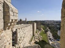 Jerusalem gamla stadsväggar Royaltyfri Bild