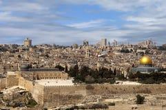 jerusalem gammal sikt Royaltyfri Fotografi
