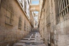 Jerusalem gata royaltyfri fotografi
