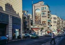 jerusalem gata Royaltyfria Foton