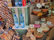 Jerusalem gataStall Arkivfoton