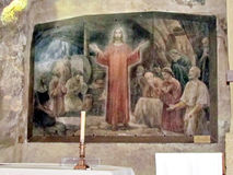 Jerusalem Gethsemane grotta Jesus Praying bland apostlarna 20 Royaltyfri Fotografi