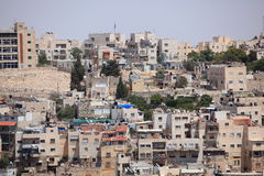 Jerusalem grannskap på Mount of Olives Arkivbild
